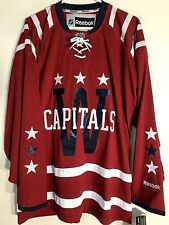 Reebok Premier NHL Jersey Washington Capitals Team Burgundy Winter Classic sz S