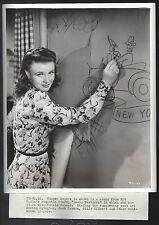 """Original 1940 GINGER ROGERS in """"Lucky Partners"""" fine portrait by Miehle snipe"""