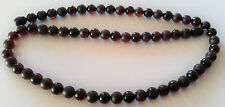 VINTAGE GENUINE BALTIC AMBER  CHERRY ROUND 7mm BEADS NECKLACE