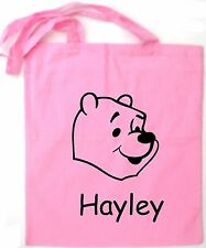 Personalised Winnie The Pooh Tote/Shopping/Shoulder Bag *Choice Of Colours*