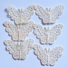 Venise lace butterfly appliques set of 6 - select  color