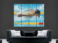 Michael Phelps WALL ART PICTURE POSTER GIGANTE ENORME OLYMPIC NUOTO G74