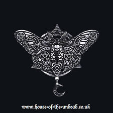 RESTYLE OCCULT MOTH BARETTE HAIRCLIP. NEW DESIGN. OCCULT. CRESCENT MOON. GOTHIC.