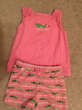 GYMBOREE Alligator OUTFIT SHIRT 2T Shorts 3T spring Summer Pink Green