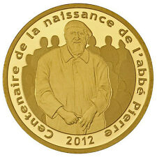 FRANCE 5 Euro Or 100ans de la Naissance Abbé Pierre BE 2012  Gold Coin 1/25 Once
