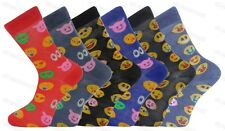 6 Pairs Mens Emoji Emotions Smiley Faces Character Socks Adults 6-11
