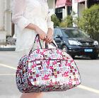 Waterproof Travel Luggage Shopping Duffle Handbag Sports Dot Printed Carry Bag