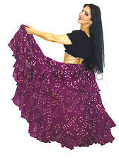 Oignon rose & blanc polka dot tribal gypsy 25 yard belly dance folk coton jupe