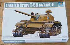 Trumpeter 1/35 scale Finnish T-55 w/KMT-5 tank kit