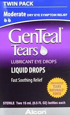 2 Pack - Genteal Tears Naturale Forte Lubricant Eye Drops 30 ML Each
