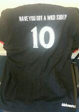 Diversión Negro camiseta Tamaño Grande w.k.d.