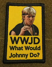 Karate Kid WWJD What would Johnny Do? Morale Patch  Cobra Kai Sweep the leg