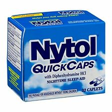 Nytol Nighttime Sleep Aid Quick Capsules 32ct -FREE WORLDWIDE SHIPPING-