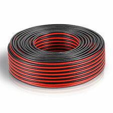 100m Roll Reel Twin core wire 2x 0,75mm² Cable red/black 2-wire CCA Copper Clad