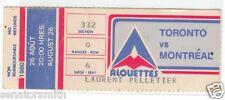 1980 Montreal Alouettes CFL QB Gerry Dattilio ticket stub vs Toronto Argonauts