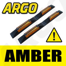 AMBER DOOR GUARD PROTECTORS EDGE STRIP REFLECTORS TOYOTA CAMRY