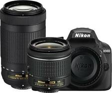 Nikon D3400 DSLR Camera with AF-P DX NIKKOR 18 - 55 mm + 70 - 300 mm Lens New