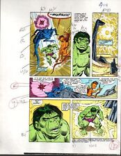 Original 1985 Marvel Incredible Hulk color guide art page 14: Sal Buscema/1980's