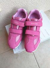 Damen Mädchen Kinder Geox Halbschuhe Sneaker Gr.38 Klettverschluss Fuchsia