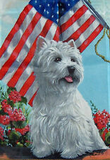 WESTIE WHWT SUMMER  HOUSE FLAG FREE SHIP USA RESCUE