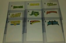 DC comics Justice League 4x6 sketch blank cover box topper card set Batman Flash
