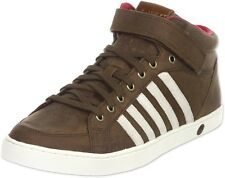 K-Swiss Adcourt '72 Mid Strap Trainers . Brown/White. Size 10.5 (3352935 R14)