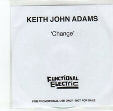 (DJ766) Keith John Adams, Change - 2012 DJ CD