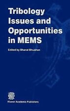 Tribology Issues and Opportunities in Mems by Bharat Bhushan (1998, Hardcover)