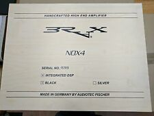 BRAX NOX4-DSP High-End 4ch Amp Amplifier Integrated DSP Black finish Germany