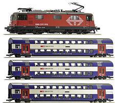 Roco H0 61445 Zugset Re 420 Sound + 3 Doppelstockwagen der SBB 1:87 - NEU + OVP