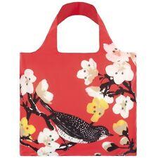 LOQI Tasche Prima Cherry Kirschblüte Vogel Einkaufstasche Falt-Shopper rot