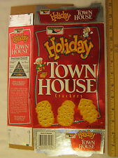 Vintage empty box KEEBLER Cracker HOLIDAY Town House 2000 (P7]