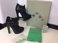 Chloe vert pour TOPSHOP nouveau noir cuir bottines taille 38 Uk 5 RRP£ 150