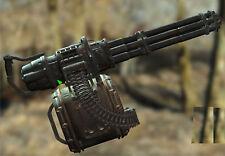 Fallout 4 Minigun digital drawings plans for DIY* paper model