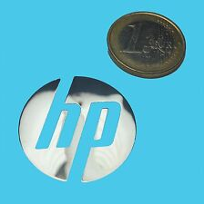 HP METALISSED CHROME EFFECT STICKER LOGO AUFKLEBER 30mm [517]