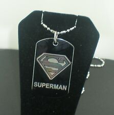 SUPERMAN REGULAR Dog Tag Pendant Necklace TAG 1