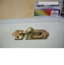 Catenaccio per porta orizzontale in ottone lucido lunghezza  10 cm. F133