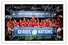 WALES RUGBY 2013 SIX 6 NATIONS CHAMPIONS SQUAD SIGNED AUTOGRAPH PHOTO PRINT