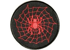 """(A35) Red SPIDER with Web 3"""" sew / iron on patch (2716) Biker Vest Cap Hat"""