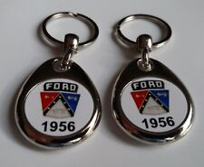 1956 FORD CREST 2 PACK OF KEYCHAINS FOR FALCON GALAXY FAIRLANE THUNDERBIRD
