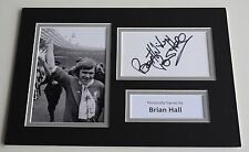 Brian Hall Signed Autograph A4 photo display Liverpool Football AFTAL & COA