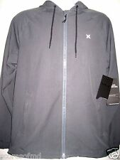 Hurley Mens Phantom Solid Zip up Water Repellent Jacket Grey Size Medium NWT