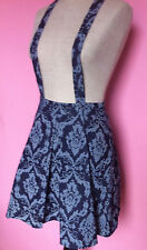 NWT Mustard Seed Suspender Dress / Overalls Skirt Blue Damask Size Small New