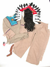 P687/55 Boy's Disney Indian Costume Plume and Band with Wig, age 7-8 128 cm