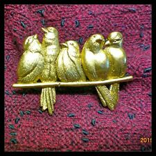 THE BIRD PERCH Giacomelli  24 k Goldplated BROOCH