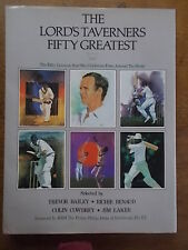 THE LORDS TAVERNERS FIFTY GREATEST Post War Cricketers Cricket Book Large Folio