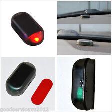 Solar Energy Power Vehicle Interior Red LED Dummy Alarm Warning Light Flash Lamp