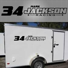 Trailer Decal Graphic. Racing, Personalized Trailer Sticker,custom Racing Decal