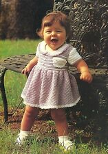 SPRINGTIME Sugar & Spice Baby Dress/Crochet Pattern INSTRUCTIONS ONLY