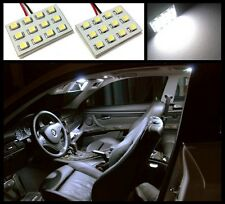 2 Ultra white 12 LED interior dome map light SMD panels Xenon bulbs HID #A1